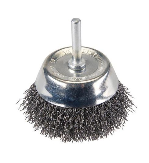 ROTARY WIRE CUP BRUSH - STEEL OR STAINLESS - Rustbuster