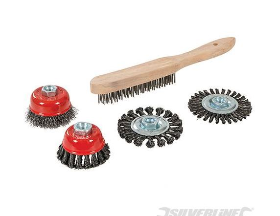 5 PIECE WIRE BRUSH SET - Rustbuster